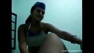 Busty Indian honey giving head